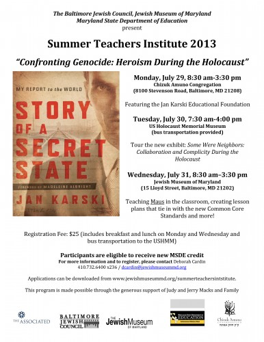 2013 Teachers Institute flier (4) (2)