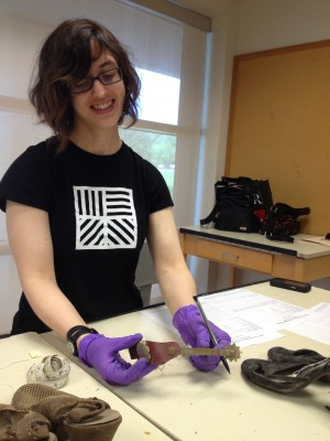 Nikola Astles from the University of Vermont Museums, worked on Lillie Carroll Jackson's shoes, which included a set of spurs!