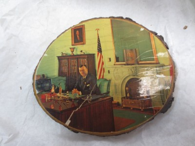 Lillie Carroll Jackson seemed equally fond of Mayor McKeldin. I love the details of his office in this souvenir.