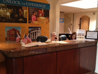 Another front desk volunteer hard at work!