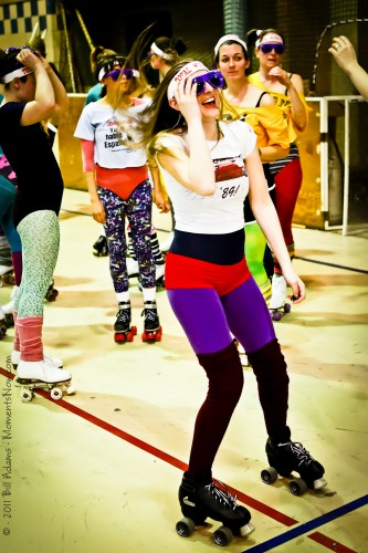 Jane Fonda would be proud to see our authentic 80s workout garb. Photo © Bill Adams