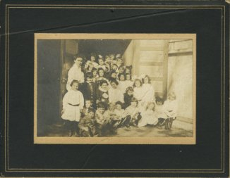 Nannette Levin's class at School No. 4 (or 14), September 1908. 1994.78.9