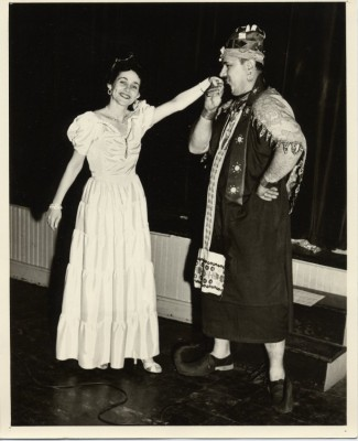 Karel Cohen as Queen Esther in a Purim play at Isaac Davidson School, c. 1959.  Gift of Dr. Chaim Y. Botwinick, 1992.108.42.