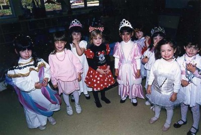 A set of beautiful princesses all decked out for Purim. Gift of Barry and Sandee Lever, 2002.111.120.