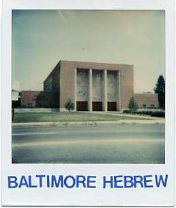 Baltimore Hebrew Congregation.  Courtesy of Paul Schlossberg. 1984.24.2