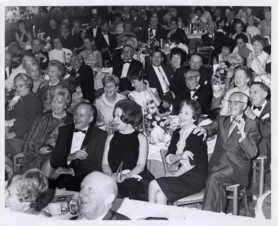 Guests listening to the program at a Jewish National Fund event, November 5, 1967. 1985.156.24.