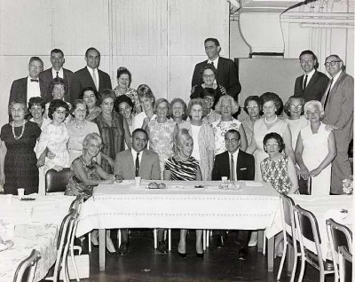 Associated Jewish Charities luncheon in honor of executive director Harry Greenstein's retirement, 1965 or 1966.  Courtesy of Linda Smeyne.  1989.025.003