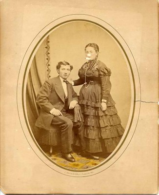 David and Clara Stern Lowenstein by J. Davis Byerly, Frederick, MD, late 1860s. Courtesy of Paul and Rita Gordon. 1995.104.58