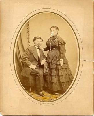 David and Clara Stern Lowenstein by J. Davis Byerly, Frederick, MD, late 1860s. Courtesy of Paul and Rita Gordon. 1995.104.58
