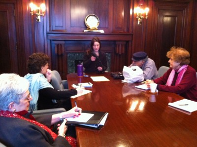 The training session was led by senior collections manager Jobi Zink.
