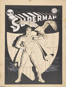 Superman #14. Cover art by Fred Ray. © 1941 DC Comics. Superman ™ and © DC Comics. All rights Reserved. Used with Permission. From the collection of Jerry Robinson.
