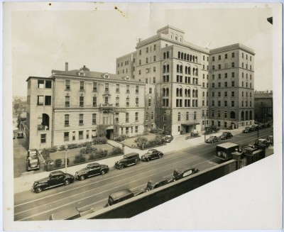 Sinai Hospital on East Monument Street, 1940. 2010.20.13.