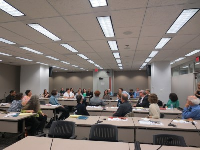 Workshop participants from Virginia, DC, Maryland, Pennsylvania and New York introduce themselves.