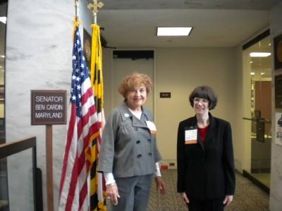 Robyn Hughes and Esther Weiner in Washington @ Sen. Ben Cardin's office