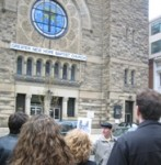 Tour stops at former site of Washington Hebrew Congregation.