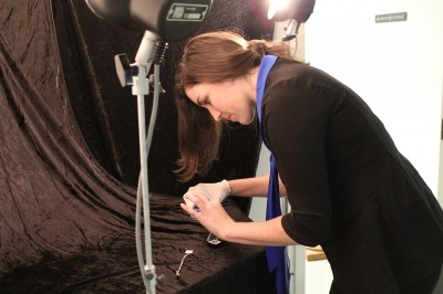 The hands on portion of our digital camera & object photography workshop!