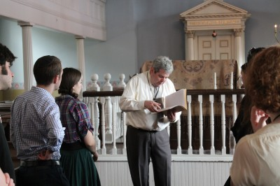 Touring the Lloyd Street Synagogue with Executive Director Marvin Pinkert.