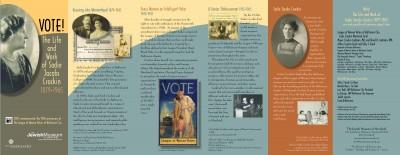 Vote! The Life and Work of Sadie Jacobs Crockin 1879-1965 exhibit brochure.