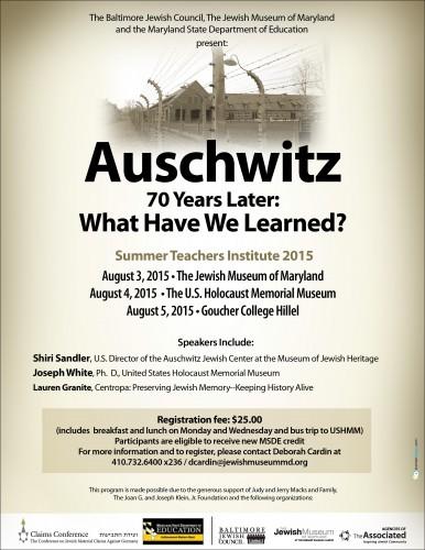 Summer Teachers Institute flyer