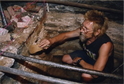 Image from an excavation at Lloyd Street Synagogue.