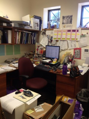 My office is such a disaster area, I'm not sure you would even find me if I were in there!