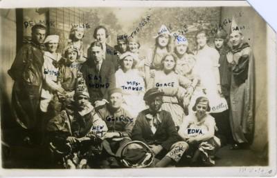 "Halloween 1920 - 1732 E. Baltimore Street, the ""Autrie"" Club."
