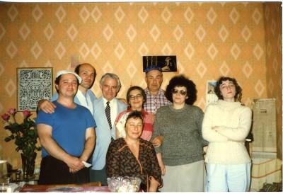 Fabian Kolker visiting Ida Nudel in Odessa, Ukraine, 2001.013.234