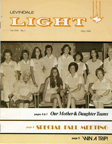 Levindale Light- Fall 1976 Issue