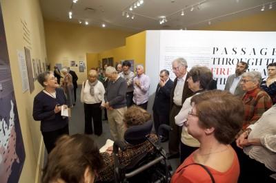 Karen gives a special Curator's Tour