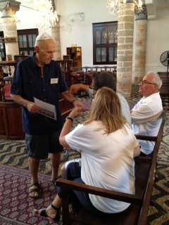 Docent with visitors