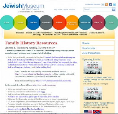 Family History Resource Page