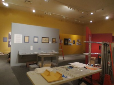 There is still a lot going on in the gallery, but things are really shaping up!  Come to the museum on October 13, 2013 and see the complete transformation!