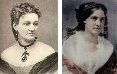 The Levy Sisters, Eugenia (left) and Phoebe (right)
