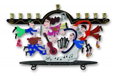Muscians Menorah by Karen Rossi