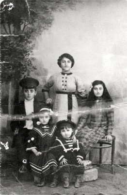 A photograph of immigrant Ida Rehr with her siblings before she left her home in Ukraine to settle in Baltimore