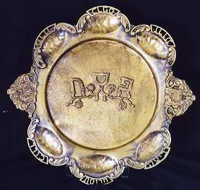 A seder plate from our Sadie Jacobs Crockin Collection, 1996.021.007.