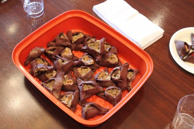 The chocolate and cream cheese hamantaschen were made by our Marketing and Development Manager, Rachel Kassman.