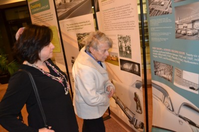 There was also plenty of reminiscing prompted by images in the exhibit, especially regarding schools and shopping centers.