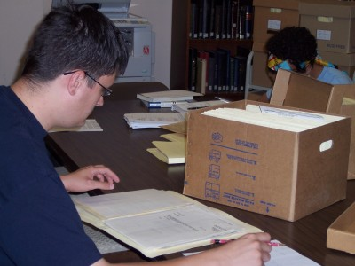 A researcher works in our library.