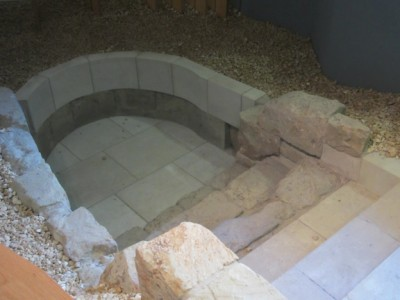 London's oldest mikveh was moved to the museum.