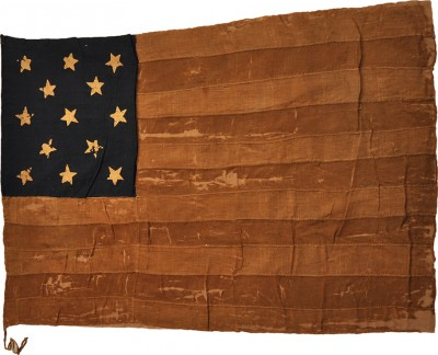 Mendes' hand-made flag, 1832