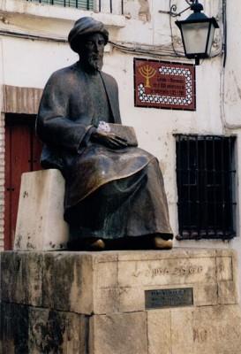 Maimonides sculpture, Cordoba, Spain