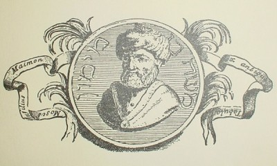 18th-century portrait of Maimonides, from the Thesaurus antiquitatum sacrarum by Blaisio Ugolino.