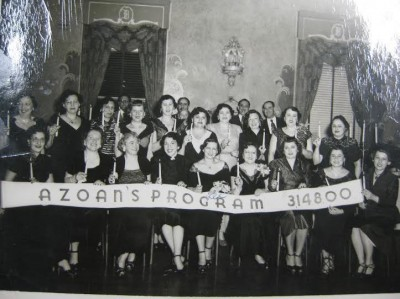 A group of Azoans after a very successful fundraiser, circa mid-1930s. Courtesy of the Kramer-Labovitz Collection, accession #2002.2.31