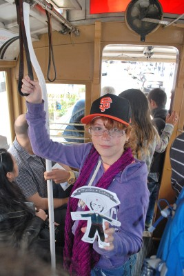 Mendes enjoyed his trip up hilly San Francisco streets traveling by cable car.