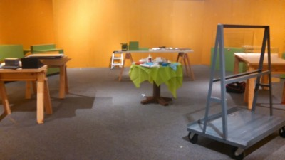 The Pickle's stay was short but sweet. Our exhibition team has worked quickly to take down the exhibit.