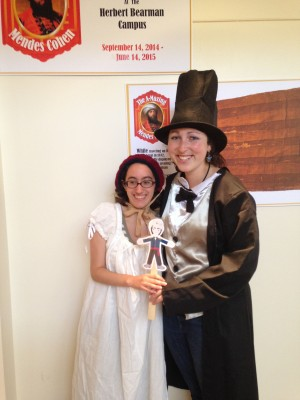 Intern Emma and I playing dress up one morning.  We dressed up as Mr. and Mrs. Lincoln using costumes from last year's exhibit on the civil war.  Even interns can be silly sometimes.