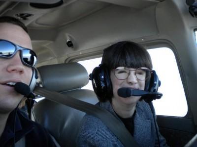 Robyn in flight