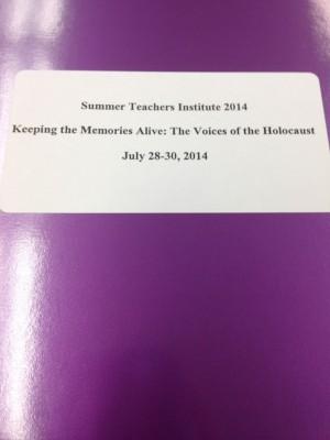 Folders given to all teachers attending the STI program