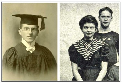Left: Edmund Kahn, 1904 (JMM 1990.191.011). Right: Gertrude Fried with her brother Hiram, 1889 (JMM 1990.191.008).